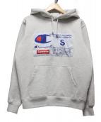 Supreme × Champion(シュプリーム × チャンピオン)の古着「チャンピオンラベルフーディー」|グレー