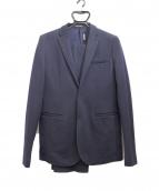 EMPORIO ARMANI(エンポリオアルマーニ)の古着「ウール混セットアップ」|ネイビー