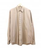 AURALEE(オーラリー)の古着「ビッグシャツ」 ブラウン