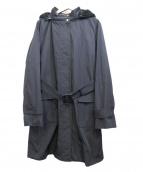 courreges(クレージュ)の古着「フーデッドコート」|ネイビー