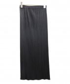 PLEATS PLEASE(プリーツ プリーズ)の古着「プリーツロングスカート」|ブラック