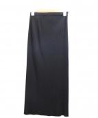 ISSEY MIYAKE FETE(イッセイミヤケフェット)の古着「プリーツロングスカート」|ブラック