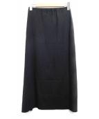 ISSEY MIYAKE FETE(イッセイミヤケフェット)の古着「マキシスカート」|ブラック