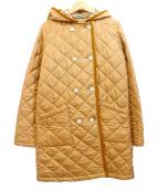 Traditional Weatherwear(トラディショナル ウェザーウェア)の古着「フード付キルティングコート」|キャメル