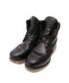 Timberland(ティンバーランド)の古着「ブローグレースアップブーツ」 ブラック