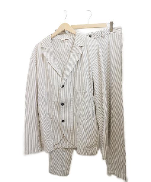 BROOKS BROTHERS(ブルックスブラザーズ)BROOKS BROTHERS (ブルックスブラザーズ) 3Bスーツ ホワイト×ネイビー サイズ:XL ストライプの古着・服飾アイテム