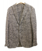 eleventy(イレブンティ)の古着「ツイードジャケット」|ホワイト×ブラック