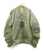 KAWI JAMELE(カウイジャミール)の古着「ロゴ入りMA-1ジャケット」