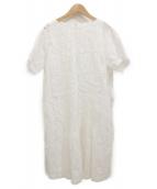 Haat(ハート/イッセイミヤケ)の古着「カットワークブラウスワンピース」 ホワイト