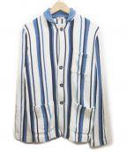 Altea(アルテア)の古着「ニットジャケット」|ホワイト×ブルー
