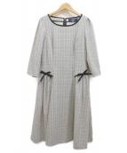 MS GRACY(エムズグレイシー)の古着「ブラウスワンピース」 ホワイト×ブラック