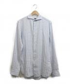 GUY ROVER(ギローバ)の古着「ストライプシャツ」|スカイブルー