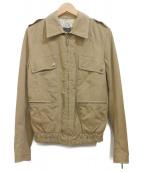 JUST CAVALLI(ジャスト カヴァリ)の古着「ジップジャケット」|ベージュ