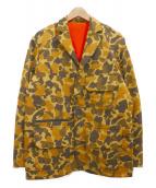 Columbia(コロンビア)の古着「ハンティングジャケット」|イエロー×ブラウン