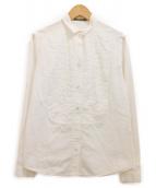 YOKO CHAN(ヨーコチャン)の古着「ピンタックブラウス」|ホワイト