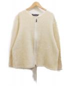 Needles Sportswear(ニードルズスポーツウェア)の古着「ジップクルーカーディガン」|アイボリー