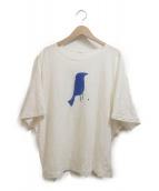mina perhonen(ミナペルホネン)の古着「リネンカットソー」 ホワイト