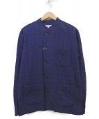 Engineered Garments(エンジニアードガーメン)の古着「バンドカラーシャツ」|ネイビー