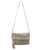 ANYA HINDMARCH(アニヤハインドマーチ)の古着「メッシュ2WAYバッグ」|シルバー