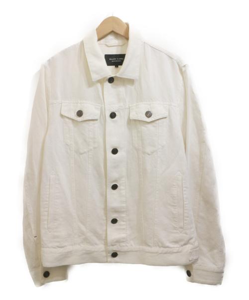 BURBERRY BLACK LABEL(バーバリーブラックレーベル)BURBERRY BLACK LABEL (バーバリーブラックレーベル) トラッカージャケット ホワイト サイズ:Ⅼの古着・服飾アイテム