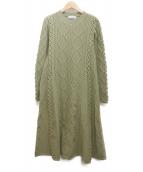 CELFORD(セルフォード)の古着「柄編みニットワンピース」 グリーン