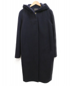 TOMORROW LAND(トゥモローランド)の古着「ウールメルトンフーデッドコート」|ネイビー