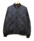 Hysteric Glamour(ヒステリックグラマー)の古着「キルトMA-1ジャケット」|ネイビー