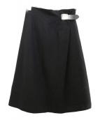 ONEIL OF DUBLIN(オニール オブ ダブリン)の古着「ウールスカート」|ブラック