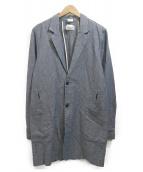 Garbstore(ガーブストア)の古着「リネン混コート」|ネイビー