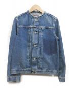 R.H.Vintage(ロンハーマン・ヴィンテージ)の古着「ノーカラージャケット」|インディゴ