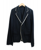 ANN DEMEULEMEESTER(アンドゥムルメステール)の古着「パイピングテーラードジャケット」|ブラック