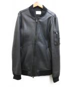 STUDIOUS(ステュディオス)の古着「レザーMA-1ジャケット」|ブラック