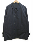 MARGARET HOWELL(マーガレットハウエル)の古着「ベンタイルショートコート」|ネイビー