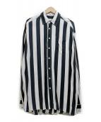 WHITELAND BLACKBURN(ホワイトランドブラックバーン)の古着「オーバーサイズシャツ」|ホワイト×ブラック