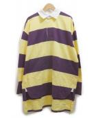 INSCRIRE(アンスクリア)の古着「ラガーポロシャツ」 イエロー×パープル