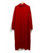 ふりふ(フリフ)の古着「ニットワンピース」|レッド