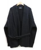 AURALEE(オーラリー)の古着「French Merino Aran Knit Gown」|ブラック