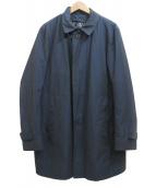 HERNO(ヘルノ)の古着「ライナー付ステンカラーコート」|ネイビー