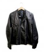 Shama(シャマ)の古着「レザージャケット」 ブラック