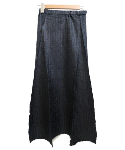 ISSEY MIYAKE(イッセイミヤケ)ISSEY MIYAKE (イッセイミヤケ) プリーツスカート ブラック サイズ:01の古着・服飾アイテム
