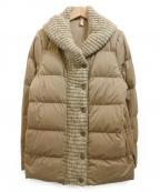 YOSOOU(ヨソオウ)の古着「Knit Shawl Color Coat」|ベージュ