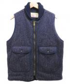 BROWNS BEACH JACKET(ブラウンズビーチジャケット)の古着「中綿ジップベスト」 ネイビー