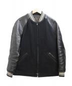 THE WYLER CLOTHING(ワイラークロージング)の古着「スリーブレザースタジャン」 ブラック