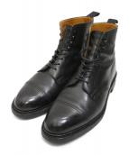Crockett & Jones(クロケットアンドジョーンズ)の古着「キャップトゥブーツ」|ブラック