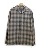 PENDLETON×URBAN RESEACH DOOR(ペンドルトン×アーバンリサーチドア)の古着「オープンカラーシャツ」|ベージュ×グレー