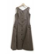 MS GRACY(エムズグレイシー)の古着「ノースリーブワンピース」|カーキ
