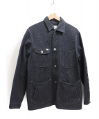 Stevenson Overall Co.(スティーブンソンオーバーオール)の古着「デニムカバーオール」|チャコールグレー