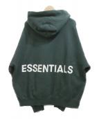 FOG ESSENTIALS(フェアオブゴット エッセンシャル)の古着「プルオーバーパーカー」|グリーン
