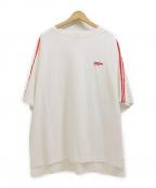 myne(マイン)の古着「2ラインビッグTシャツ」|ホワイト×レッド