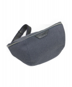 PELLE MORBIDA(ペッレモルビダ)の古着「Onda Shoulder Bag」|ネイビー
